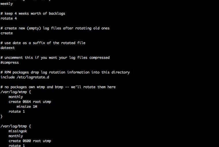Logrotate, rotado automático de logs en Linux